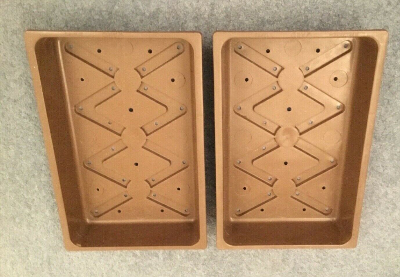 2x Brown durable 14
