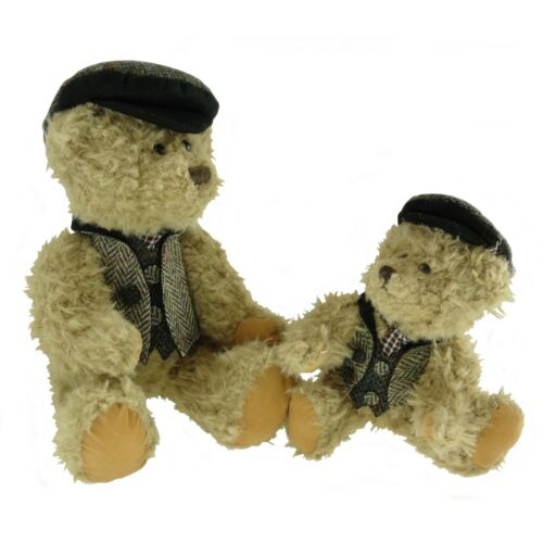 25cm Stile Vintage-BOY Teddy Bear vestiti in Harris Tweed disponibile in 3 COLORI