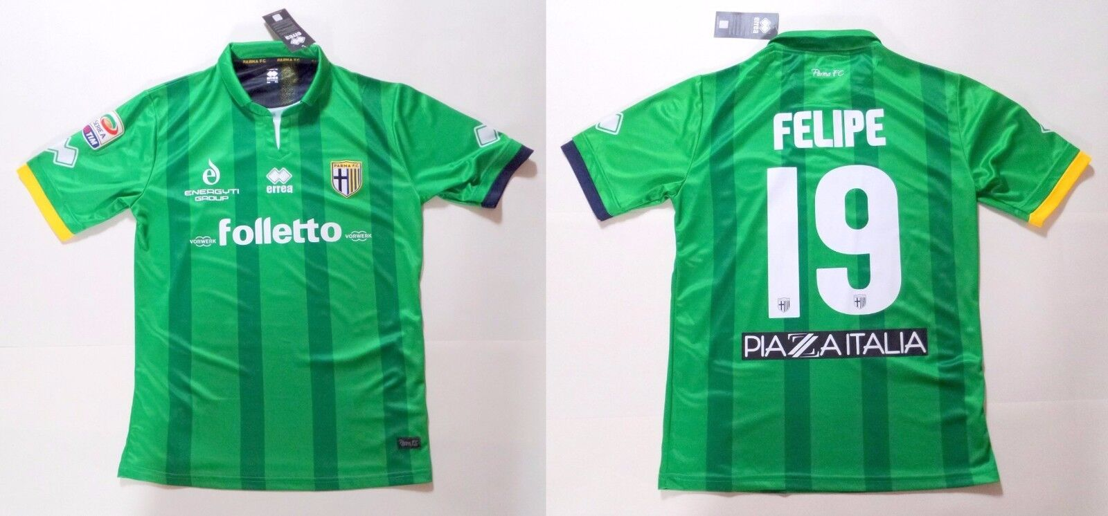 Parma Juventus Errea Felipe 19 Official Match Jersey T-Shirt Competition Issue