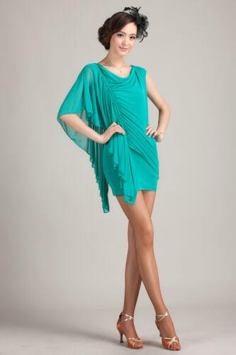 SGD22 Green New Women Ballroom Latin Rhythm Salsa Swing Dance Dress