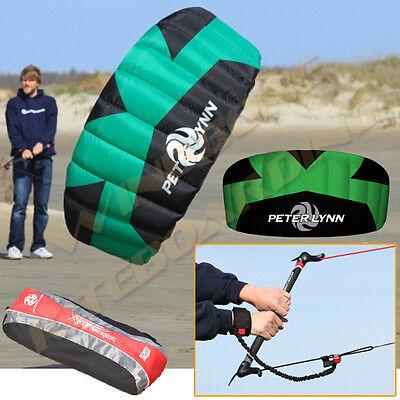 Peter Lynn Vibe Hype Trainer 1.9M Foil Power Kite Kiteboarding Control Bar Leash