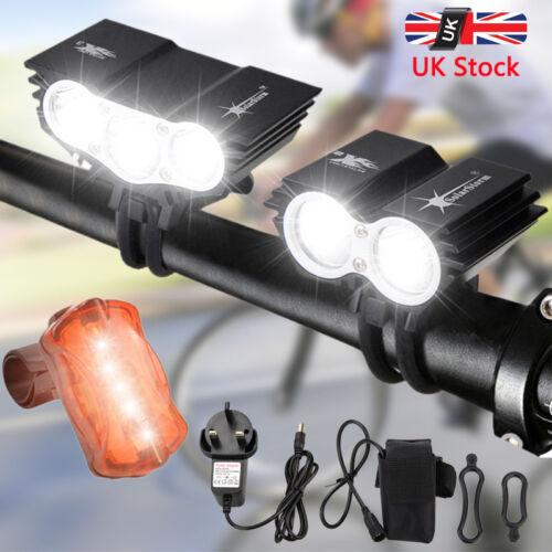 SolarStorm 20000Lm X2 X3 XML T6 LED Bicycle Light Rechargeable MTB Bike Lamp Set