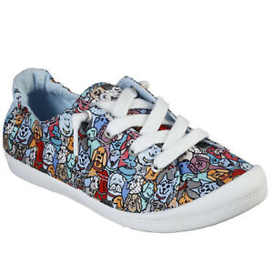 7bdc749a9c5 Women s Bobs by Skechers BEACH BINGO WOOF PACK 32604 Lace-up Comfort ...