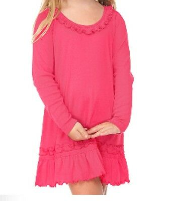 12m 8y baby girl long sleeve dress children spring toddle pink cotton casual