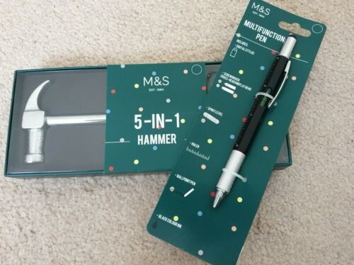 New /& Boxed Marks /& Spencer Gift Set Compris 5-in-1 Hammer /& Multifunctional Pen