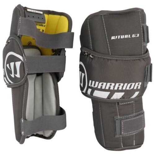 New Warrior Ritual G3 int 32+1 Ice Hockey Goalie leg pads intermediate white//blk