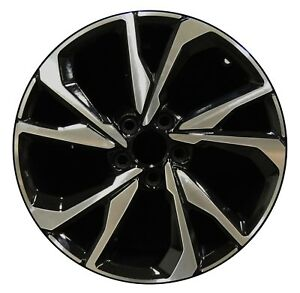 Honda Factory Rims >> Details About 18 Honda Civic Si Coupe 2017 2018 Factory Oem Rim Wheel 64113 Gloss Black