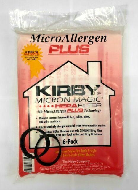 9 Genuine Kirby Generation 5 G5D Vacuum Cleaner Allergy Bag 1 Brushroll 2 Belt