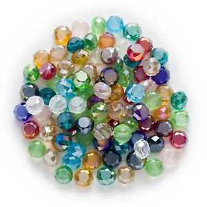 50pcs-Bread-Shape-Faceted-Crystal-Glass-spacer-Beads-Jewelry-Headwear-Making-DIY