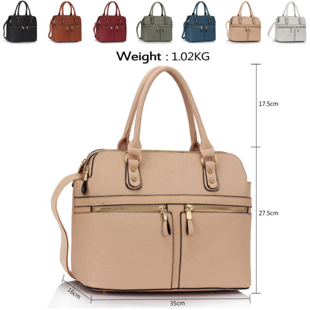 Eva Faux Leather Medium Ladies Tote Work Day Grab Bags Women Shoulder Handbags