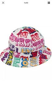 9408d6ca2ad Image is loading Supreme-HYSTERIC-GLAMOUR-Text-Bell-Hat-White