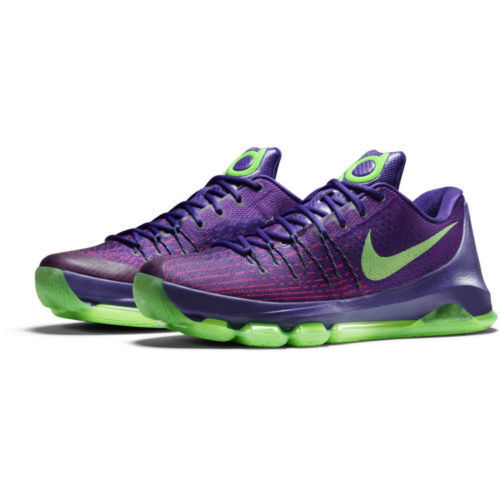 sports shoes 3e88d 86eaf Nike KD 8 VIII Sz 11.5 Court Purple Green Streak 749375 535