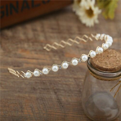 Fashion Rhinestone Pearl Ladies Headband Wedding Party Accessories Hair Band