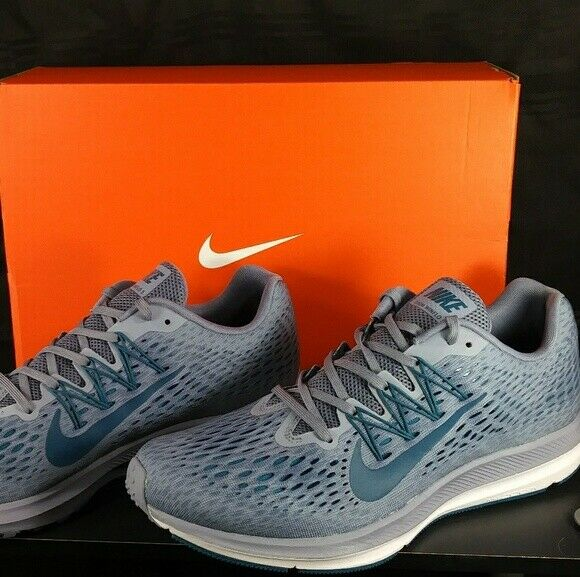 NEW  Nike Air Zoom Winflo 5 Mens Running shoes Slate bluee AA7406-403 Size 11.5