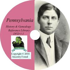 PENNSYLVANIA History Genealogy -164 old Books on DVD - Ancestors, County, CD, PA
