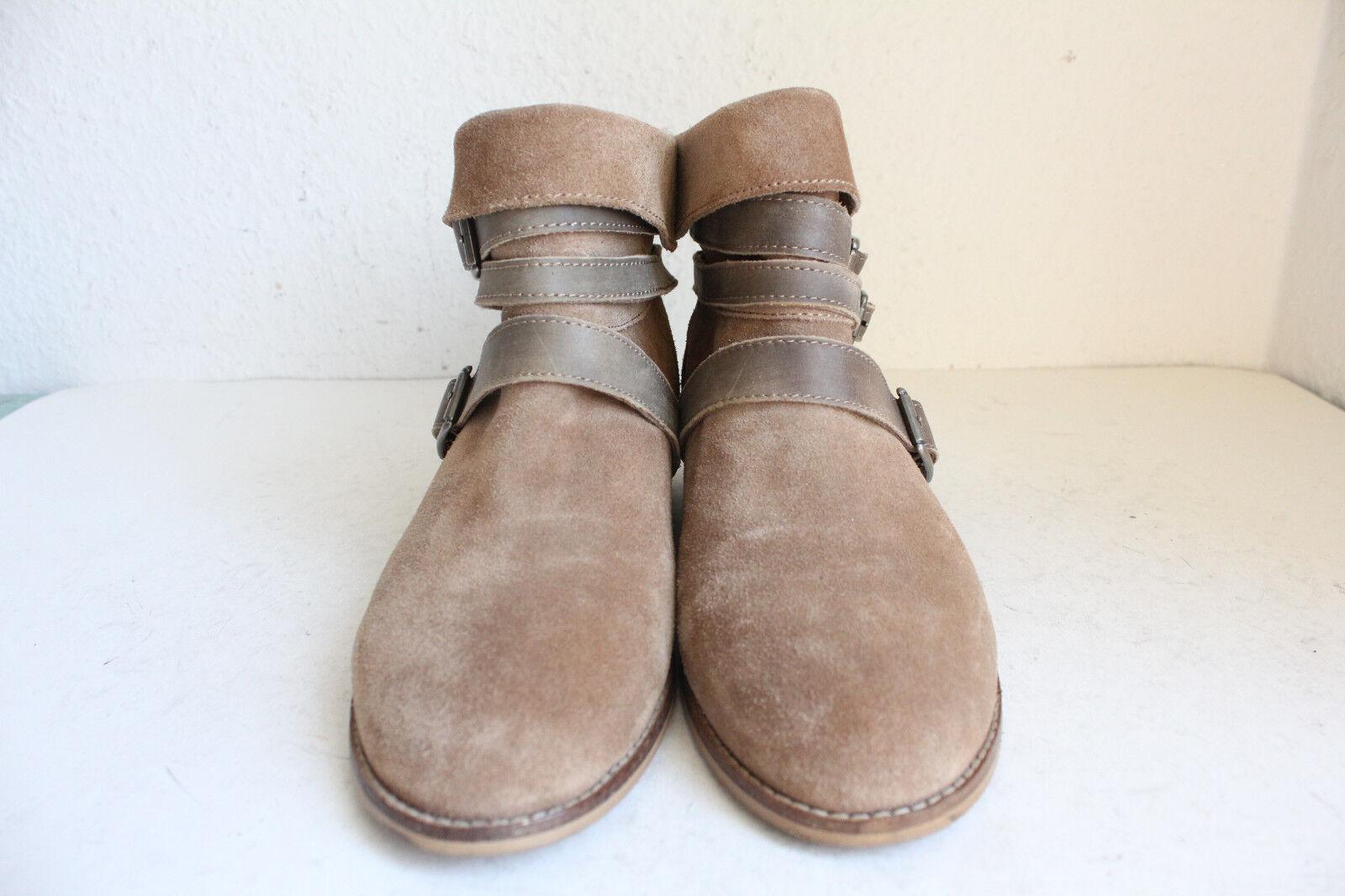 Esprit elegante trendy botines botas de gamuza marrón tonos eu 40