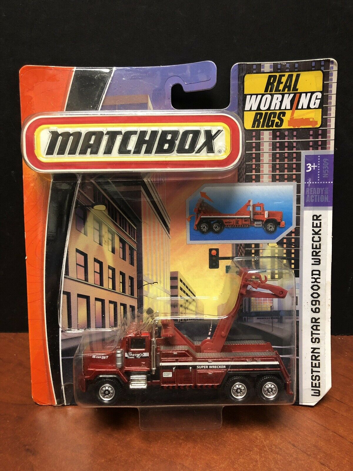 2008 Matchbox real de trabajo Rigs Western Estrella 6900XD grúa EM3500