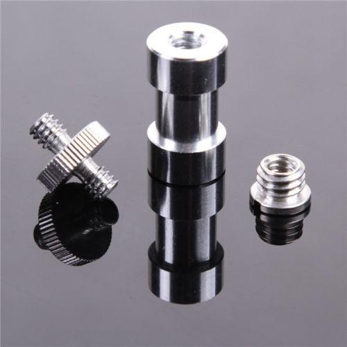 """New Metal 1/4"""" 3/8"""" Screw Spigot Stud Convert Adapter Kit fr Camera Tripod Stand"""