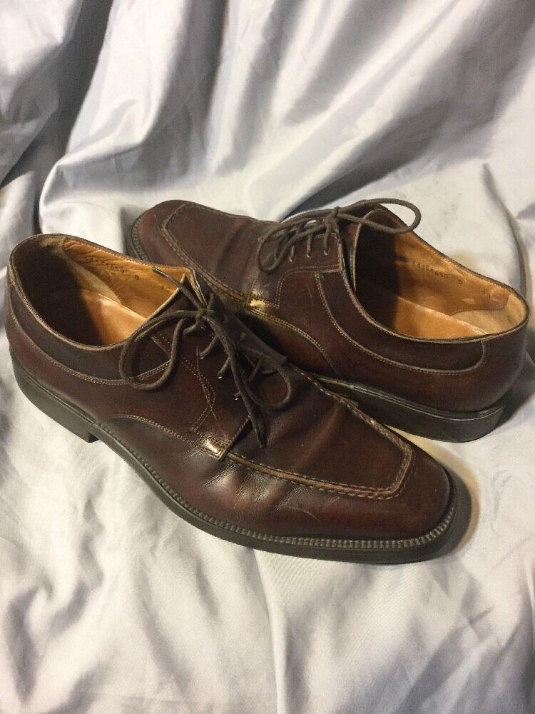 Santoni Barton Brown Calfskin Leather Oxford Dress shoes  10 D