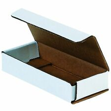 50 Of 6 X 25 X 1 Small White Cardboard Carton Mailer Shipping Box Boxes