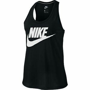 NIKE WOMENS ESSENTIAL Sportswear Casual Tank Top WhiteBlack