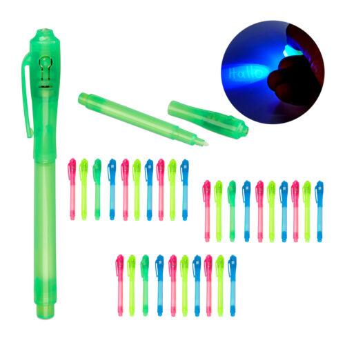 36 x UV-Stifte Geheimstifte Kinder UV Pen Stifte Set bunt UV-Licht Zauberstifte