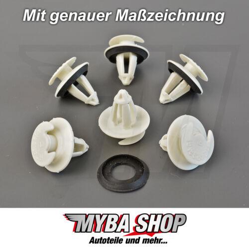 20x attrezzo Clip Fissaggio Per Mercedes klips Supporto Con Guarnizione Nuovo