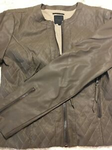 sports shoes 39007 81e8a Dettagli su Giubbino di pelle da donna Silvian Heach color tortora taglia  XS giacca