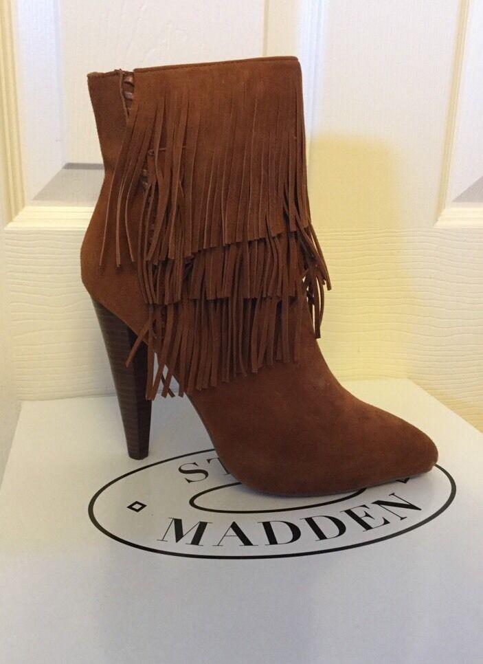 Steve Madden Myrackle Fringe Dress Booties Größe 5.5