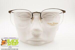 Intelligente Beau Monde Mod. Beaufort Eyeglasses Frame Rimlles, Aged Color Chiseled , Nos 80s