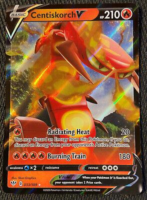 Darkness Ablaze Pokemon Centiskorch V NM//M Ultra Rare 033//189