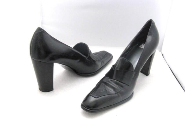 ANNE KLEIN Black Hi Heel Pump Women's Shoes Made in Italy Vintage - Size 7M/7N