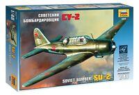 ZVEZDA 4805 SOVIET BOMBER SU-2 SCALE MODEL KIT 1/48 NEW WWII