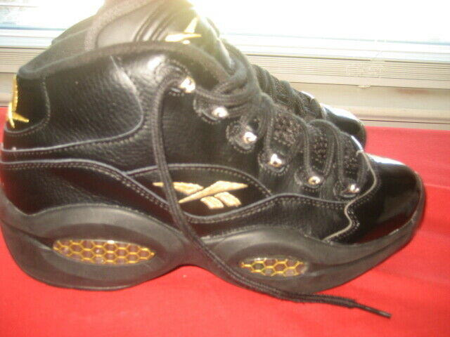nativo Tratado Fonética  Reebok Allen Iverson Infant Baby Boy SNEAKERS Black Sz 6 for sale online |  eBay
