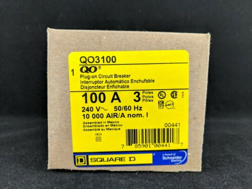 Square D QO3100 Miniature Circuit Breakers