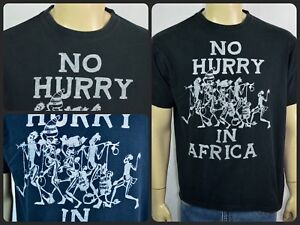 "9eb2cd6184 Vtg Malawi African Art ""No Hurry In Africa"" Tourist T-Shirt Sz Large ..."