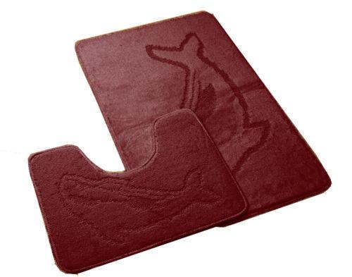 Nuevo De Lujo Suave Delfín Antideslizante Alfombra de Baño con padestal puerta Estera Antideslizante