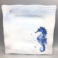 "Seahorse Ocean Wonder 8/"" Square Lunch Plate Melamine 21283"