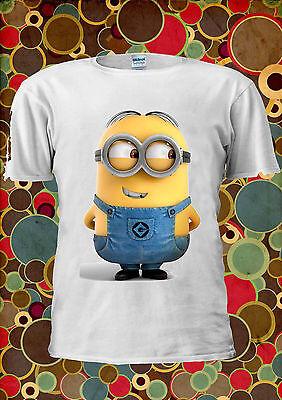 Minions Despicable Me New Cute Smile Funny Men Women Unisex T Shirt Vest Top 2m