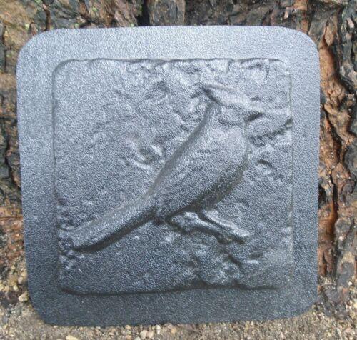 Plaster cement cardinal bluejay plastic tile mold rapid set mould