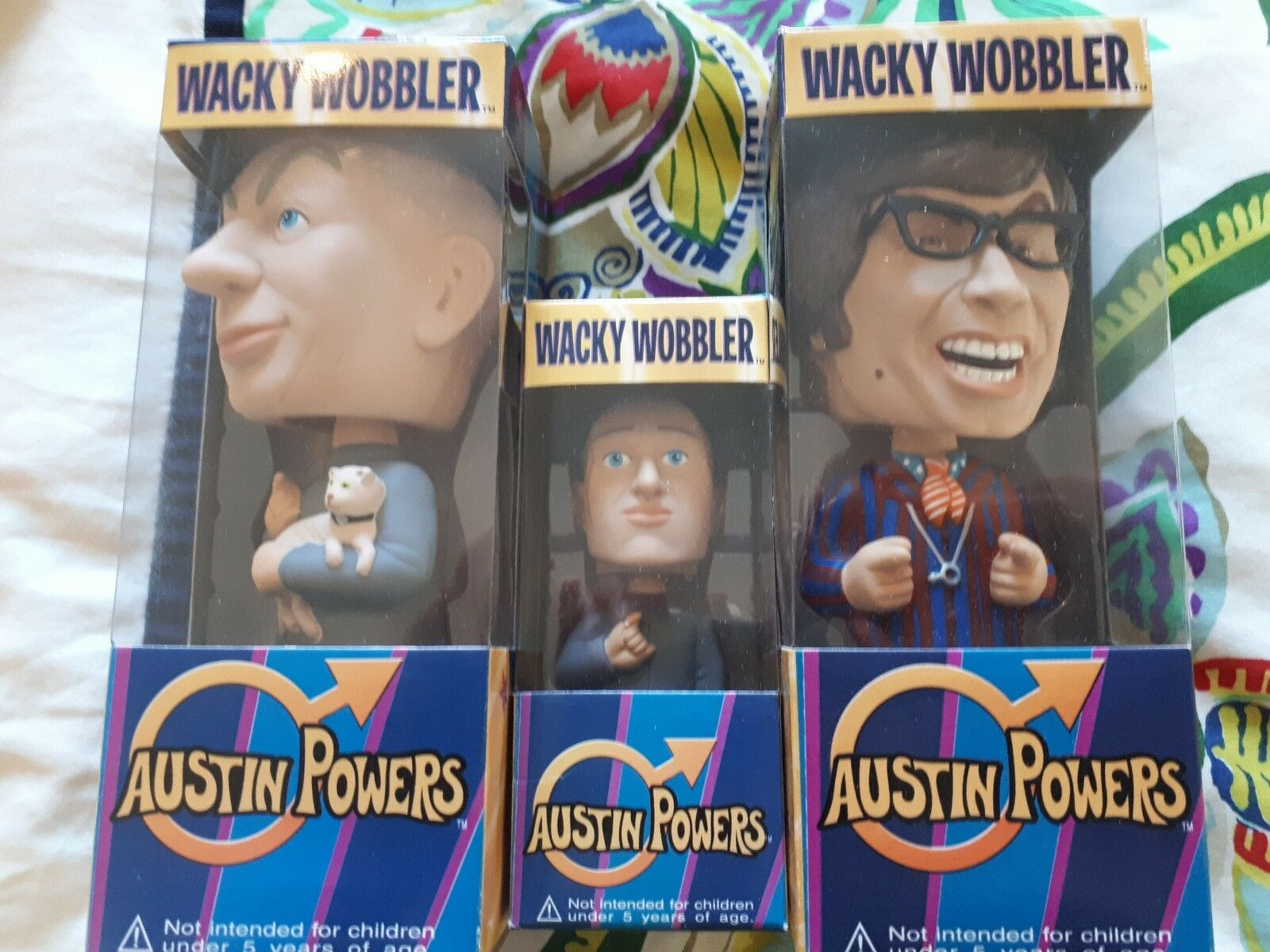 Austin Powers Wacky Wobblers (Set of 3 by Funko - EXTREMELY RARE)