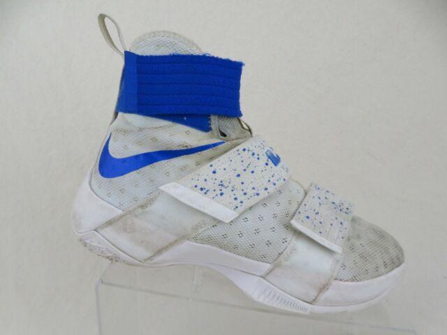 more photos 1ea40 775c0 NIKE Lebron Soldier X 10 White/Blue Sz 7.5 Men Basketball Shoes