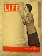 LIFE June 21 1937  Louis-Braddock fight, '37 Pontiac models, Marx Bros DUST BOWL