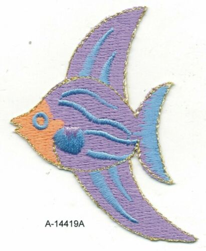 Purple Tropical Marine Fish embroidery patch