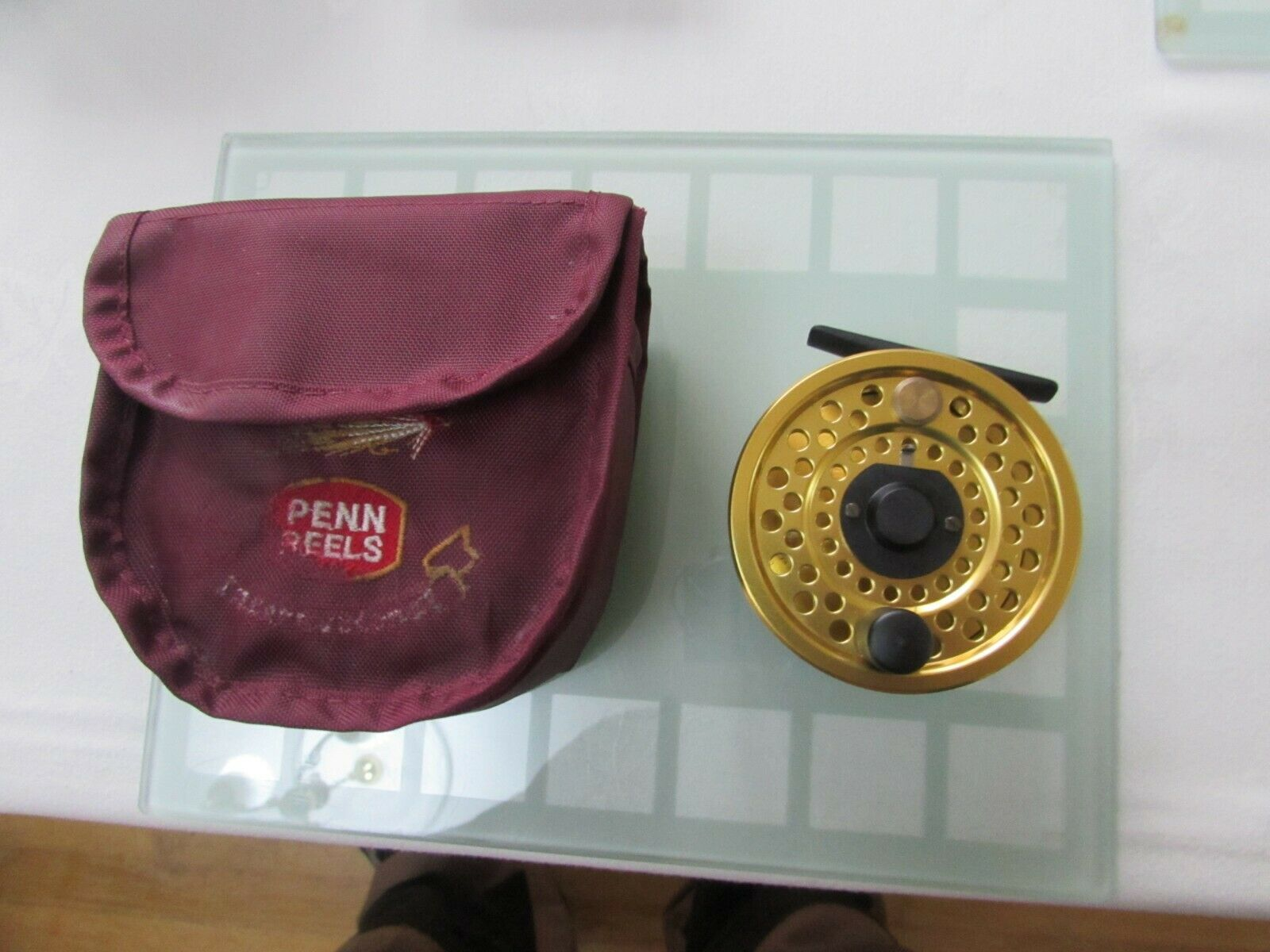 Stunning vintage sharpes penn gold medal freshwater no 1  trout fly fishing reel  authentic quality