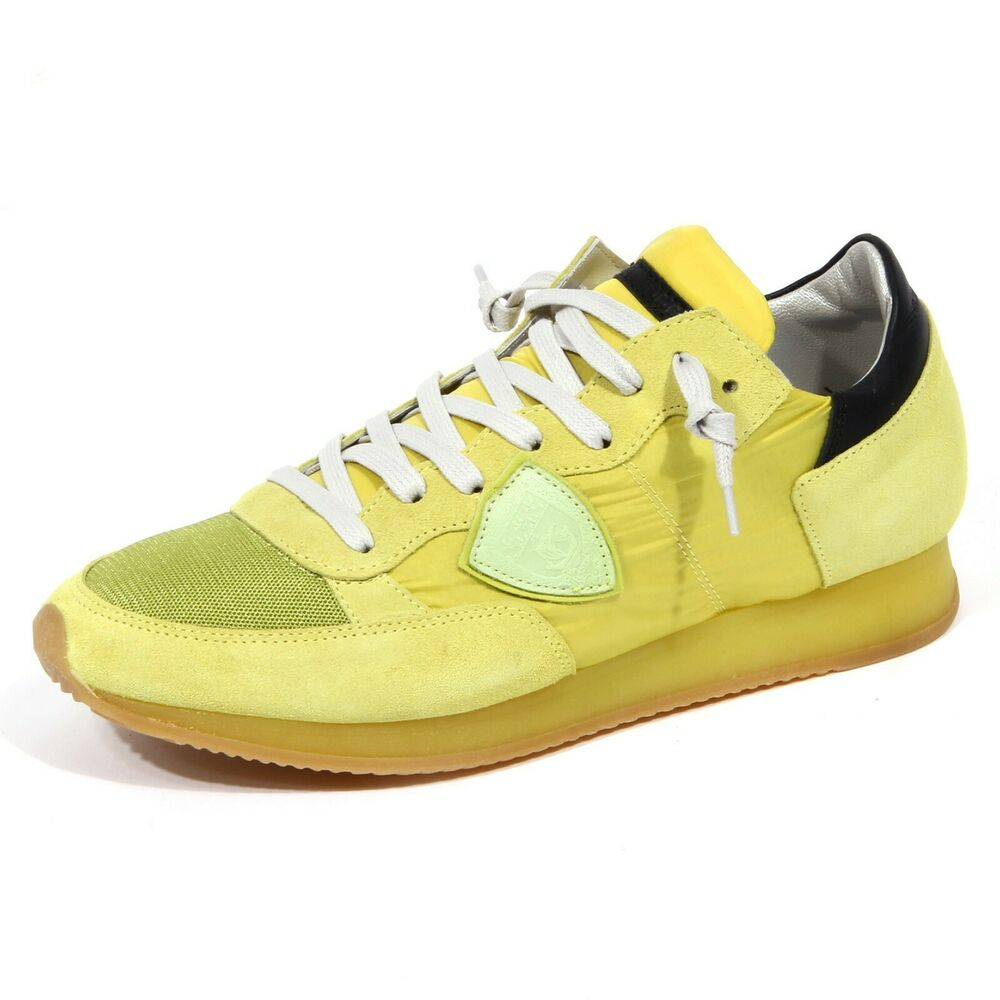 1406j Sneaker Uomo Lime Philippe Model Tropez Suede/tissue Shoe Man