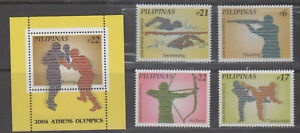 Philippine Stamps 2004 Athens Olympics Complete Set,  MNH