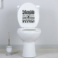 DIY Removable Art Quote Wall Sticker Decal Home Mural Decor Bathroom Rules NEW