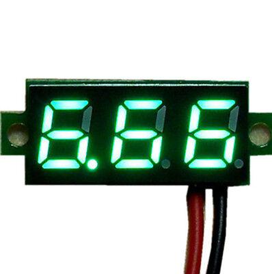 """Mini 0.28"""" DC Digital Volt Meter Panel Mount LED Voltage 2.50-30V 12V Green"""