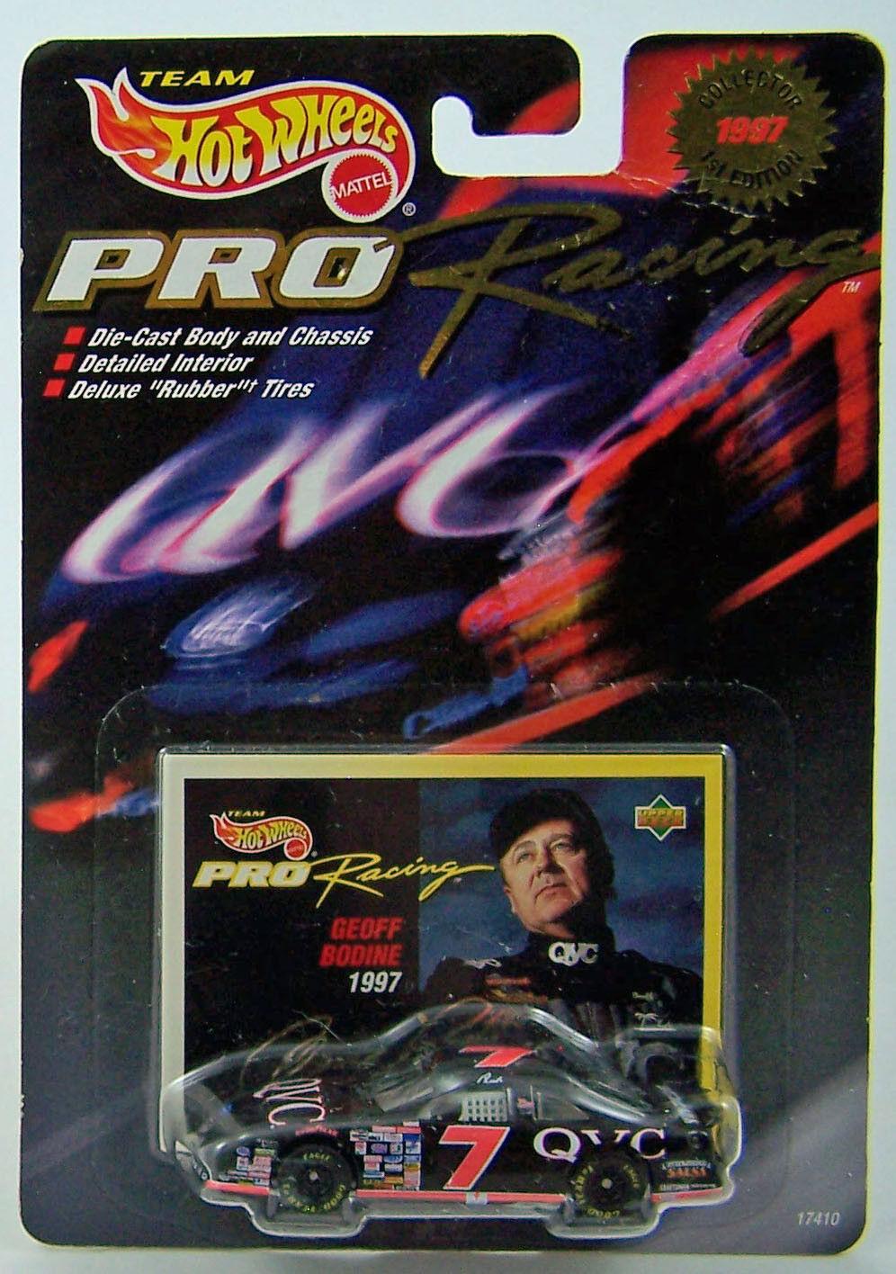1997 Hot Wheels 1:64 Pro Racing Racing Pro 1st Ed GEOFF BODINE  7 QVC Ford T-Bird - NIP cfbcba